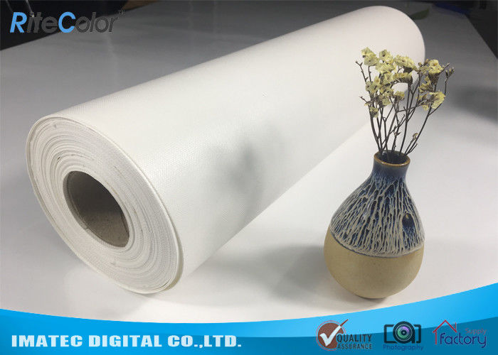 Outdoor Eco Solvent 380gsm Glossy Inkjet Pure Cotton Canvas Roll 122""