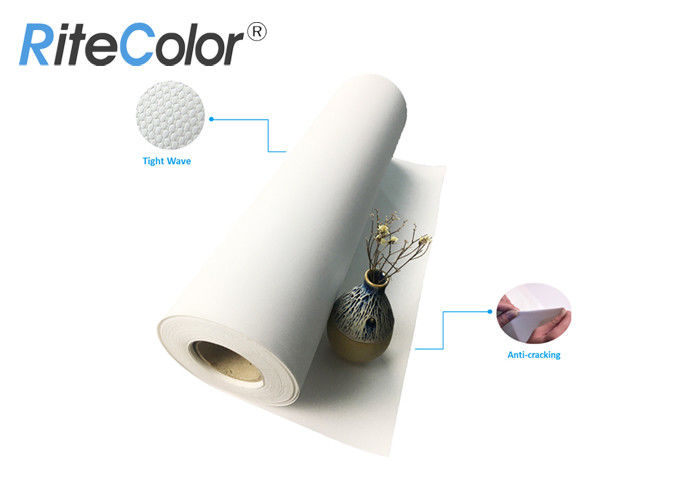 Waterproof Polyester Artist Canvas Roll / Inkjet Digital Printing Blank Canvas Roll