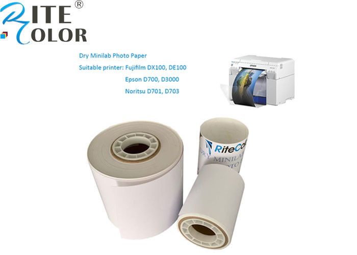 Microporous Luster Minilab Photo Paper A4 Sheet Roll Resin Coated White Color