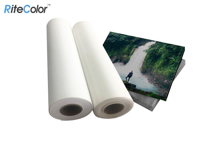White 270gsm Wall Mural Polyester Canvas Rolls Matte Self Adhesive Blank Waterproof