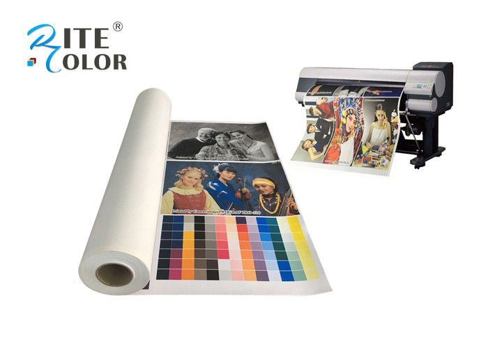 Art Inkjet Printable Polyester Fabric Roll Large Format 44 Inch Matte Finish